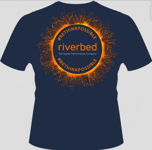 Riverbed Maximize Digital Performance T-shirt at AWS re:Invent