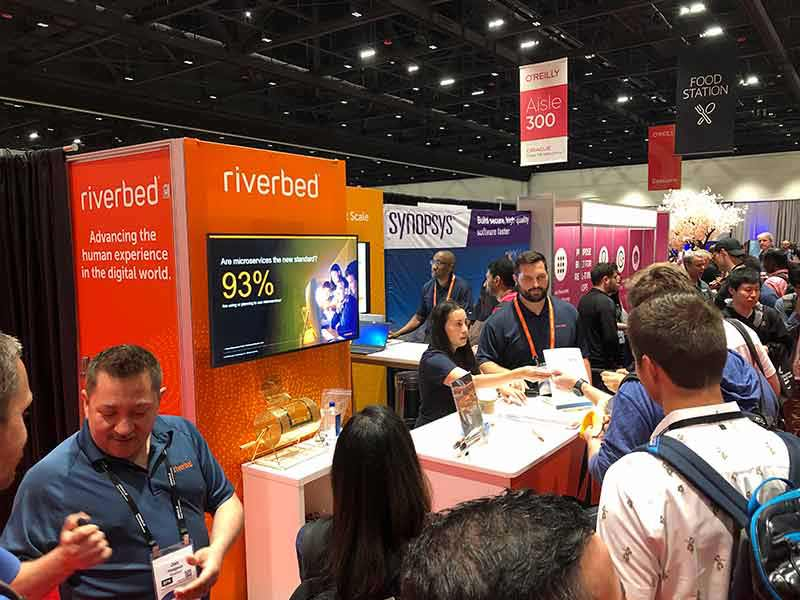 Riverbed booth at Velocity